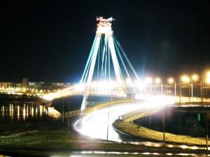 Вантовый мост в городе Череповец