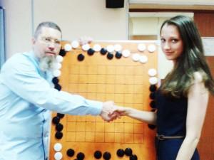 Арина Арацкова на лекции Игоря Гришина